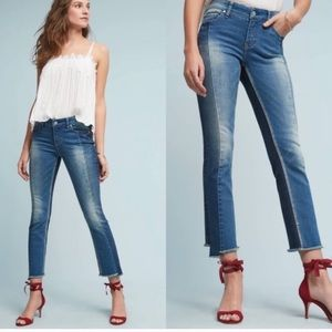 Pilcro Parallel Mid Rise Straight Jeans